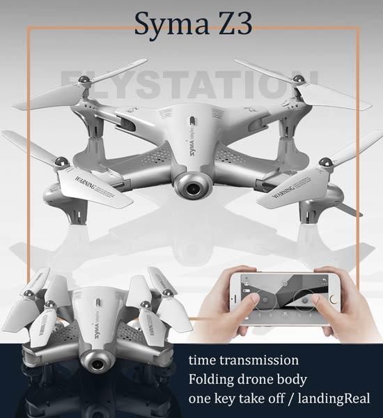 کواد کوپتر تاشو syma Z3 با ارسال زنده تصویر