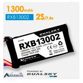باتری لیتیوم پلیمر dualsky RXB13002  دو سل 1300mAh