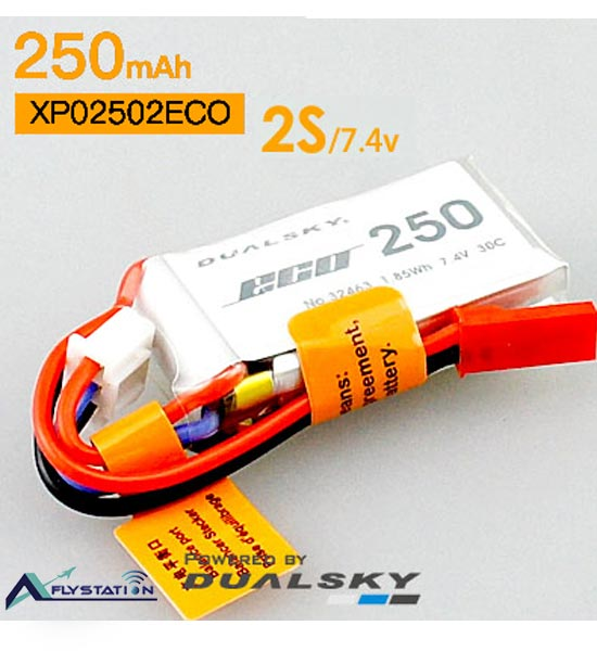 باتری لیتیوم پلیمر dualsky XP02502ECO دو سل 250mAh