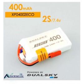 باتری لیتیوم پلیمر dualsky XP04002ECO دو سل 400mAh