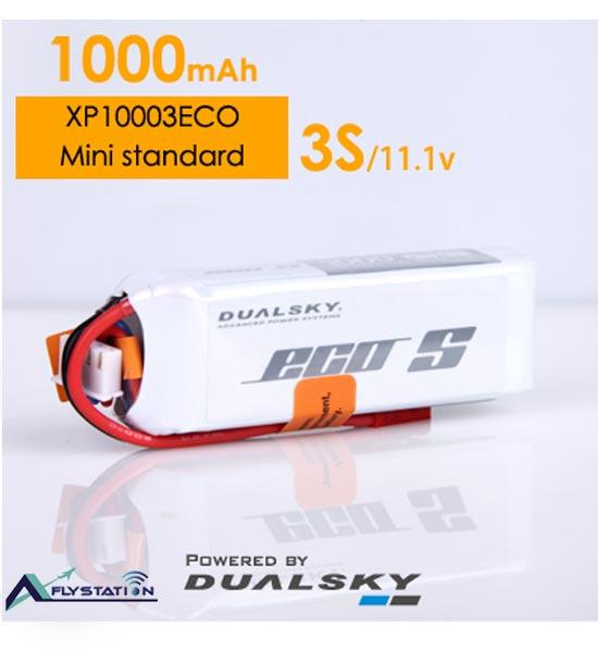باتری لیتیوم پلیمر dualsky XP10003ECO سه سل 1000mAh