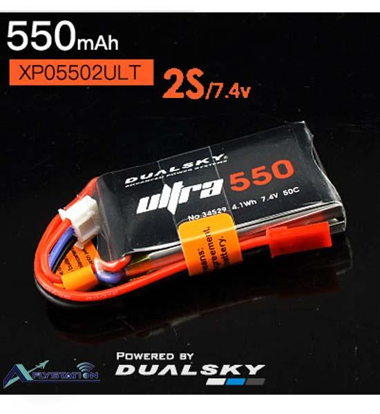 باتری لیتیوم پلیمر dualsky XP05502ULT دو سل 550mAh