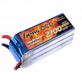 باتری لیتیوم پلیمر 3 سل Lipo Gens Ace 2700mAh 25C