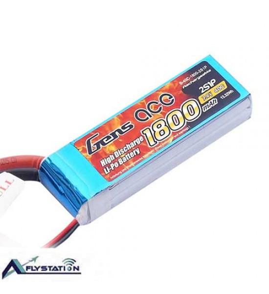 باتری لیتیوم پلیمر 7.4 ولت 1800 میلیآمپر (gens ace)
