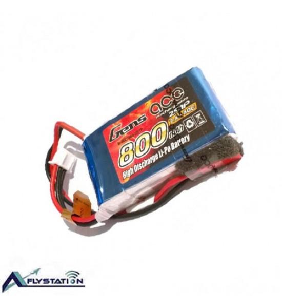 باتری لیتیوم پلیمر 7.4 ولت 800 میلیآمپر (gens ace)