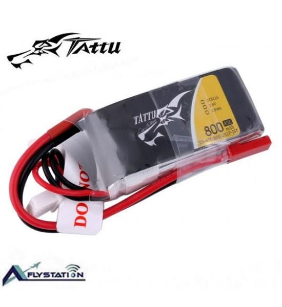 باتری لیتیوم پلیمر 7.4 ولت Tattu 800mAh 45C