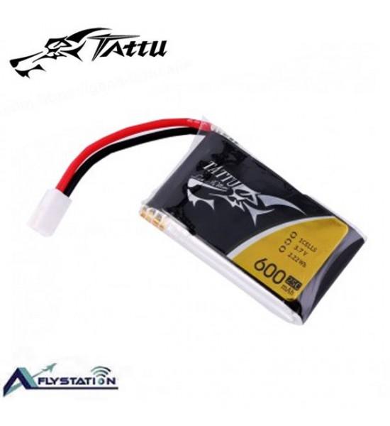 باتری لیتیوم پلیمر 3.7 ولت Tattu 600mAh 25C