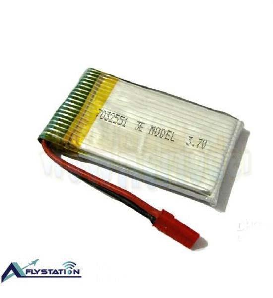 باتری لیتیوم پلیمر 3.7 ولت 1000 میلیآمپر (سوکت قرمز)
