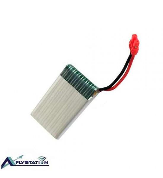 باتری لیتیوم پلیمر 3.7 ولت 500 میلیآمپر (سری H-سوکت قرمز)