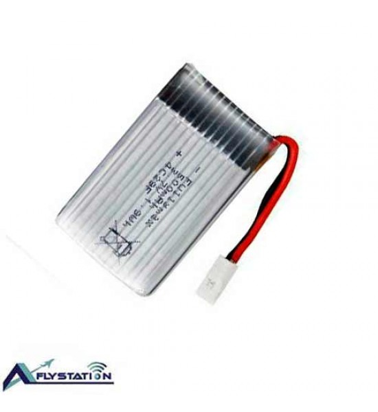 باتری لیتیوم پلیمر 3.7 ولت 500 میلیآمپر (سری 5-سوکت سفید)