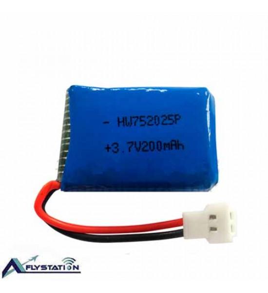 باتری لیتیوم پلیمر 3.7 ولت 200 میلیآمپر