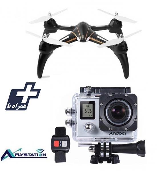 کواد کوپتر wltoys Q393 + دوربین ورزشی UltraHD Sport 2LCD