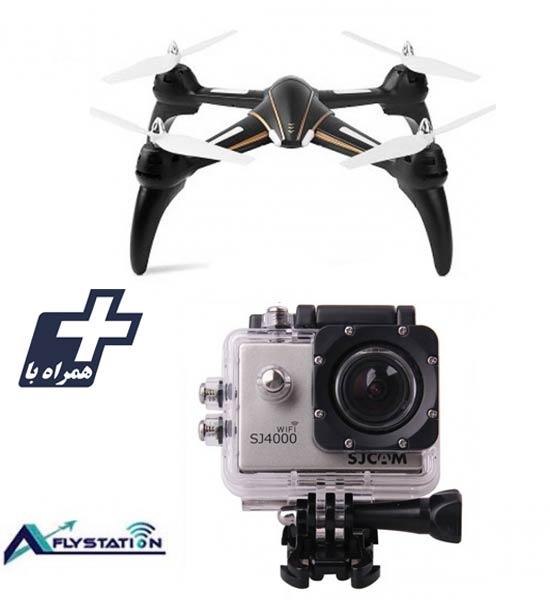 کواد کوپتر wltoys Q393 + دوربین ورزشی SJCAM SJ4000