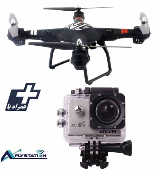 کواد کوپتر wltoys Q303 + دوربین ورزشی SJCAM SJ4000