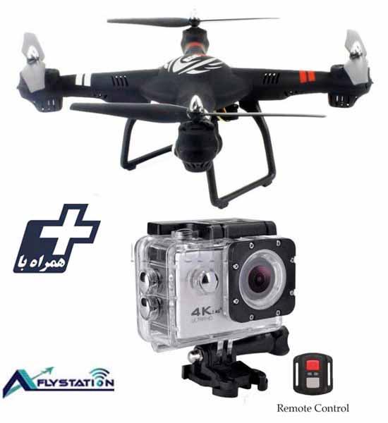 کواد کوپتر wltoys Q303 + دوربین ورزشی UltraHD Sport