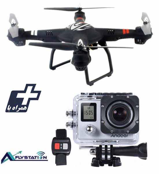 کواد کوپتر wltoys Q303 + دوربین ورزشی UltraHD Sport 2LCD