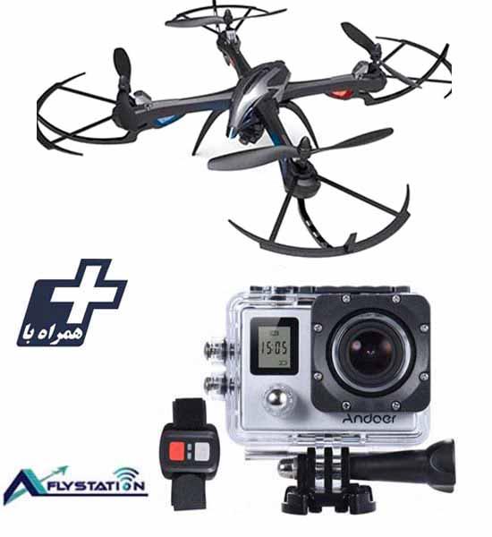 کوادکوپتر I8H + دوربین ورزشی UltraHD Sport 2LCD
