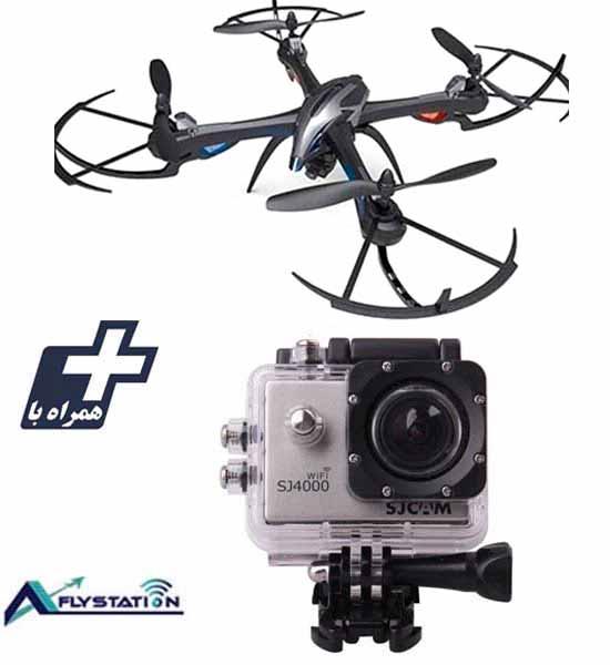 کوادکوپتر I8H + دوربین ورزشی SJCAM SJ4000