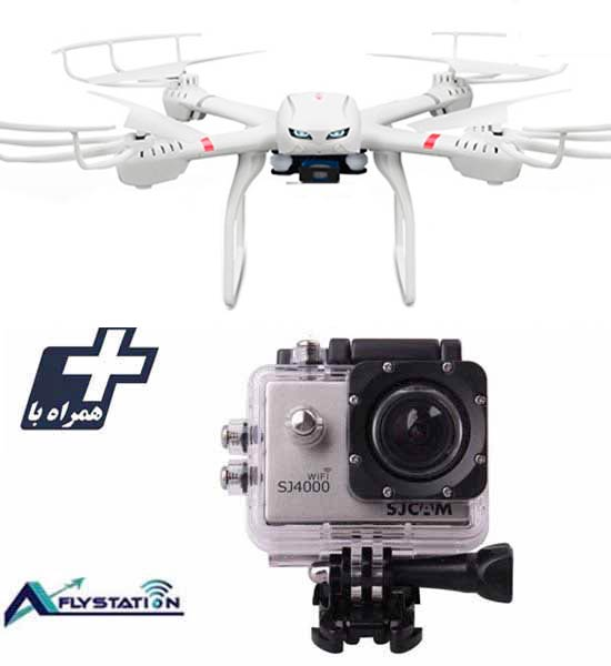 کوادکوپتر MJX X101 + دوربین ورزشی SJCAM SJ4000