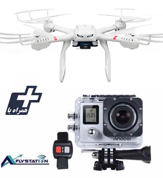 کوادکوپتر MJX X101 + دوربین ورزشی UltraHD Sport 2LCD