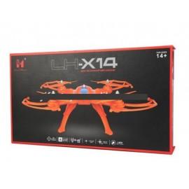 کوادکوپتر دوربین دار LH-x14 DV (رادیوکنترل مانیتور دار) - رنگ سفید
