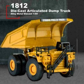 ماکت فلزی کامیون راه سازی Huina 1812 مقیاس 1:60