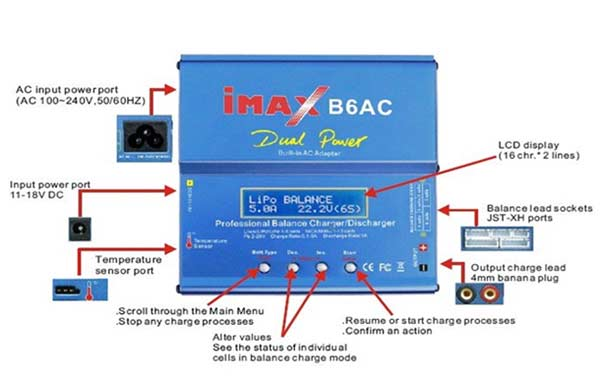 شارژر باتری 80 وات B6AC  ساخت IMAX