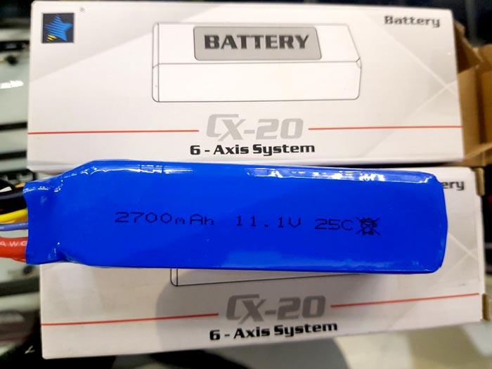 باتری لیتیوم پلیمر کوادکوپتر Cheerson CX-20
