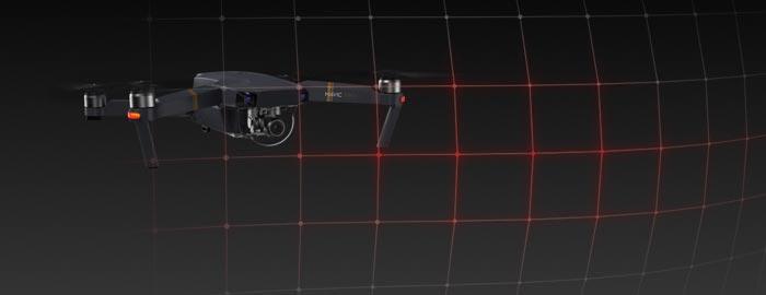 از شایعترین مشکلات خلبلانان به خصوص افراد مبتدی در هنگام پرواز با یک کوادکوپتر ، کرشهای احتمالی و برخورد با موانع است. کوادکوپتر مویک دارای چندین سنسور گریز از مانع است که از فاصلهی 15 متری موانع را تشخیص داده و از برخورد با آنها جلوگیری میکند.