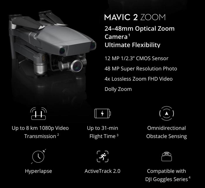 کوادکوپتر مویک 2 زوم  (Mavic 2 Zoom) ساخت DJI