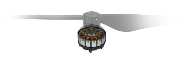 موتورهای براشلس قوی پهپاد یا کوادکوپتر اینسپایر 1 V2 (تک ریموت)