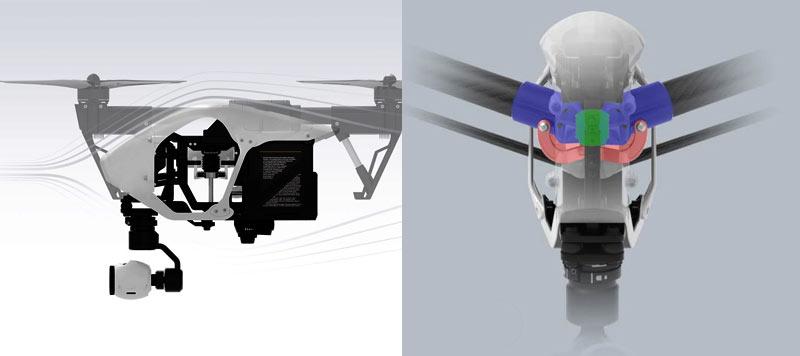 بررسی تخصصی پهپاد یا کوادکوپتر اینسپایر 1 V2 (تک ریموت)