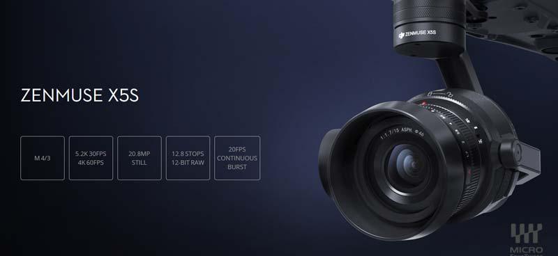 کوادکوپتر اینسپایر 2 با دوربین X5S