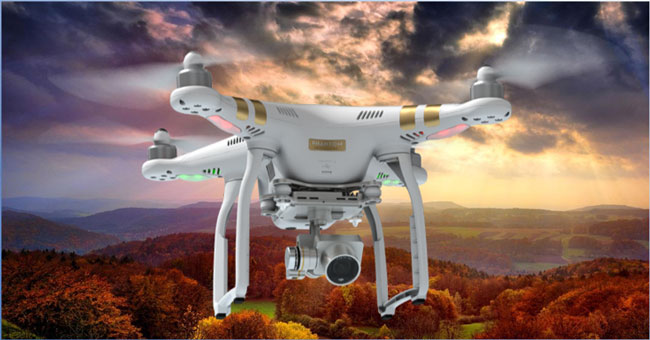 پرواز آسان پهپاد یا کوادکوپتر دوربین دار فانتوم 3