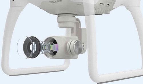 دوربین با کیفیت بالا پهپاد یا کوادکوپتر دوربین دار فانتوم 4