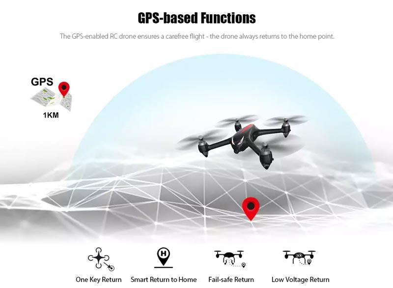 کوادکوپتر دوربین دار mjx bugs 2 دارای GPS