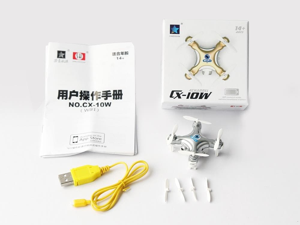 بسته محصول در خرید پهپاد یا خرید کواد کوپتر Cheerson CX10W