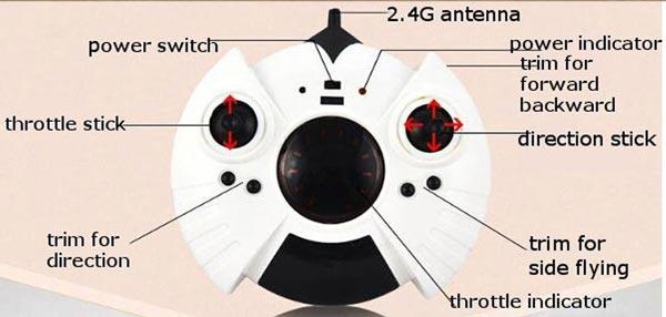 رادیو کنترل پهپاد یا کوادکوپتر تخم مرغی CX-6057