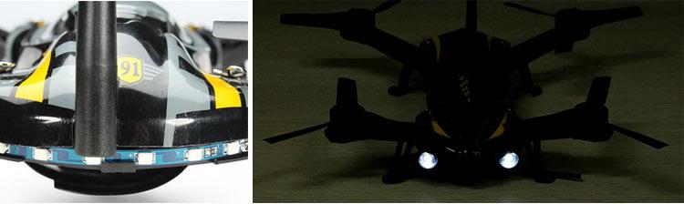 کوادکوپتر Cx91 jumper دارای دو چراغ پرنور و کم مصرف در جلو پهپاد برای ایجاد امکان پرواز در شب و چند LED کوچک برای تعیین موقعیت آن توسط خلبان در قسمت عقیب پهپاد است.