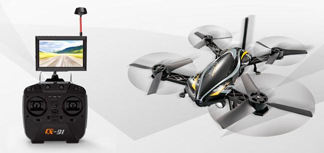 طراحی کوادکوپتر Cx91 jumper به گونهای صورت گرفته که با یک نگاه کاملا حس مسابقه و سرعت را به بیننده القا میکند. این بدنه امکان مانور و شتاب سریع را به Cx91 میدهد.