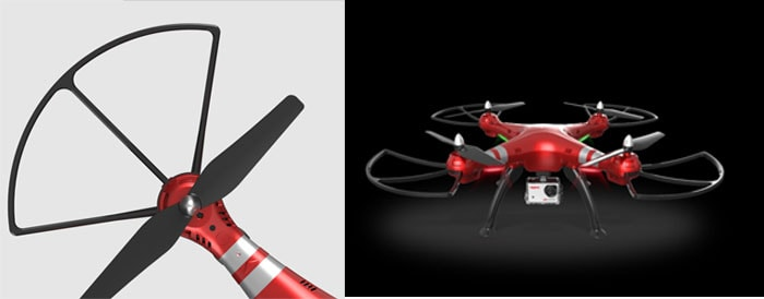 محافظ ملخ های انعطاف پذیر پهپاد یا کوادکوپتر دوربین دار سایما X8HG