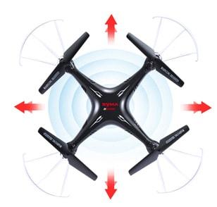یکی دیگر از ویژگی های قابل ذکر و مورد توجه کوادکوپتر syma X5SW ، برخورداری آن از مد هدلس است. مد هدلس به این معنی است که پرواز کوادکوپتر مستقل از سر آن بوده که باعث می شود هدایت آن بسیار ساده تر باشد. کوادکوپتر مستقل از جهتی که نسبت به خلبان دارد، دستورات آن را عینا اجرا می کند.