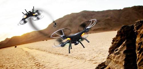 امکان چرخش 360 درجه ی syma X5SW به آسانی و با استفاده از دو دکمه روی رادیوکنترل قابل اجراست. این قابلیت به خلبانان، حتی افراد مبتدی این امکان را می دهد تا بتوانند به راحتی حرکات پیچیده ای را اجرا کرده و پرواز چشمگیری را به نمایش بگذارند.