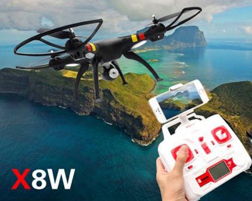 نحوه ی اتصال گوشی همراه به دوربین برای دریافت تصاویر زنده در پهپاد یا کوادکوپتر syma X8W  با ارسال زنده تصویر