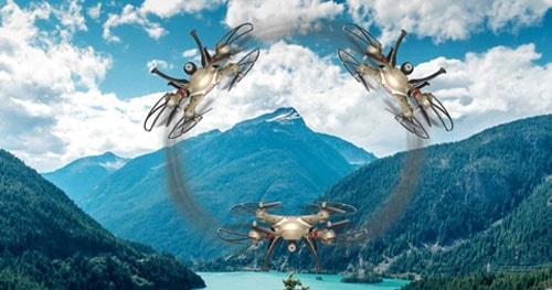چرخش 360 درجه پهپاد یا کوادکوپتر Syma X8HW  با ارسال زنده تصویر ساخت شرکت سیما