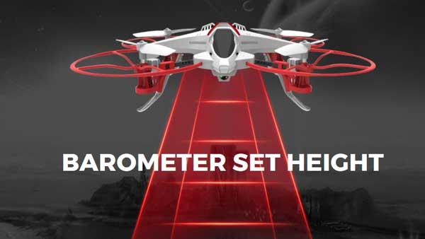 کوادکوپتر X14W برای ایجاد امکان کنترل آسان توسط مبتدیترین خلبانان، قابلیت حفظ ارتفاع را به آپشنهای خود اضافه کرده است.
