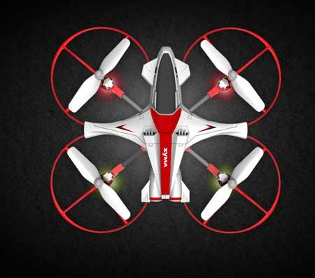 کوادکوپتر X14W با کمک LED های پرنور و کم مصرف ، قابلیت پرواز در شب را به راحتی دارا می باشد. این چراغ ها علاوه بر تعیین موقعیت پهپاد به تعیین جهت آن در شب نیز به راحتی کمک میکند.