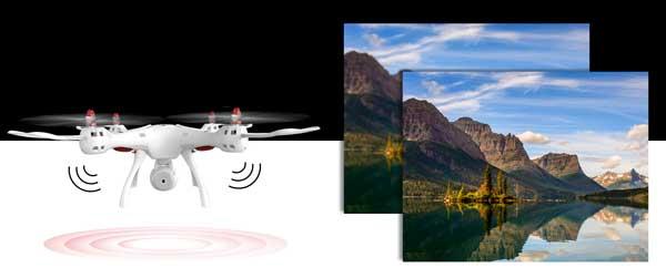 ضبط تصاویر و ویدیو ها با کیفیت بالاتر پهپاد یا کوادکوپتر دوربین دار سایما syma X8SC