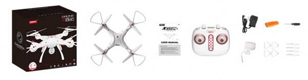 بسته محصول شامل پهپاد یا کوادکوپتر دوربین دار سایما syma X8SC