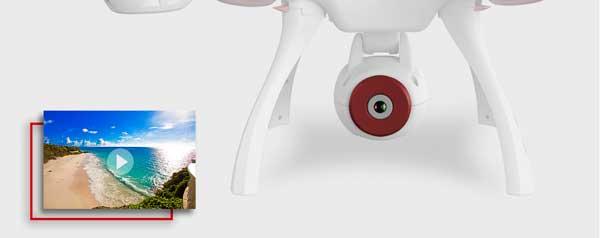 ضبط و ثبت ویدیوهای زندهتر و باکیفیتتر پهپاد یا کوادکوپتر دوربین دار سایما syma X8SW با ارسال زنده تصویر